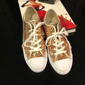 Converse Gold Glitter All-Stars
